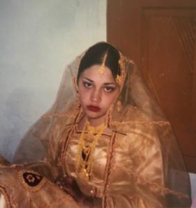 Naila on her wedding day